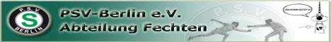 Website der Fechtabteilung des PSV Berlin